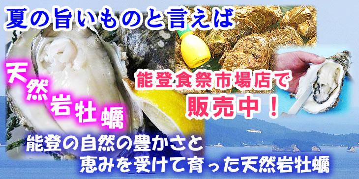 夏の旨いものといえば!天然岩牡蠣(能登食祭市場店で販売中)